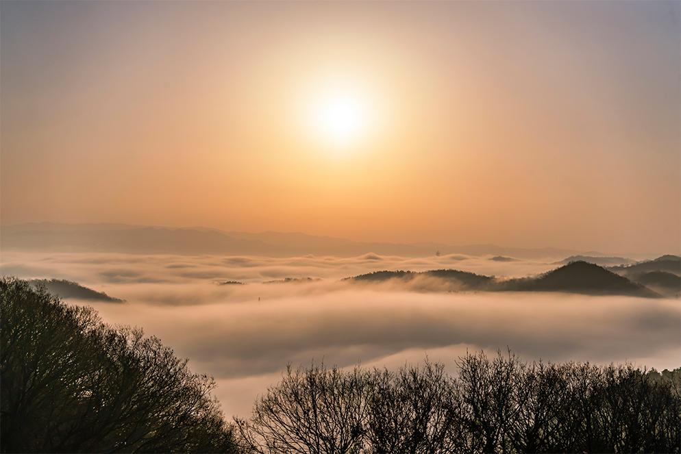 周遍寺から見る大雲海